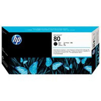 HP C4820A nr.80 Black + cleaner, originalna tiskalna glava