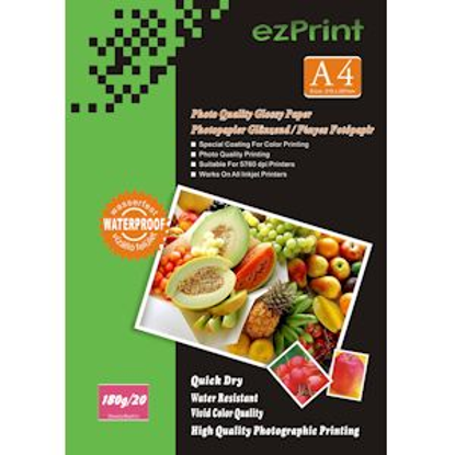 ezPrint Photopapir A4 duplex, 20 kosov, 180g glossy
