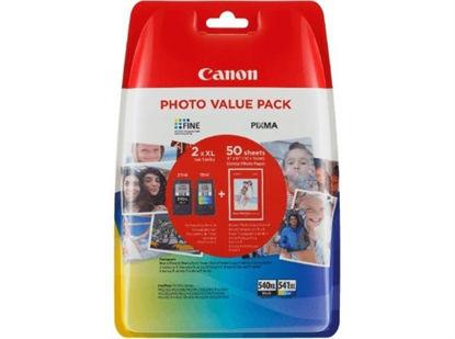 Canon PG-540XL + CL-541XL, original + papir (5222B013AA), komplet originalnih kartuš