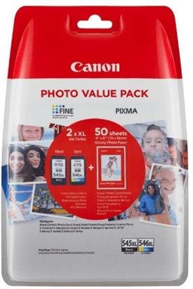Canon PG-545XL + CL-546XL, original + papir (8286B006AA), komplet originalnih kartuš