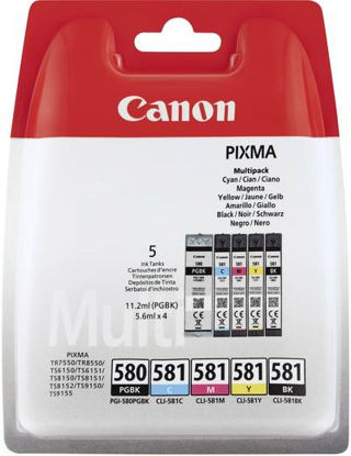 Canon PGI-580PGBK + CLI-581 (BK/C/M/Y), komplet originalnih kartuš