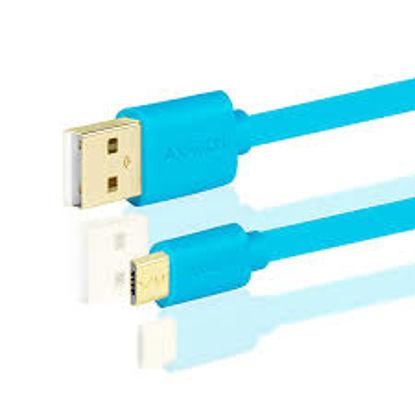 Axagon USB 2.0 A (M) – micro USB (M) 0,2m (Blue), kabel