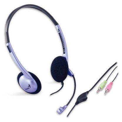 Genius HS-02B 2.0 Purple/Black, slušalke z mikrofonom