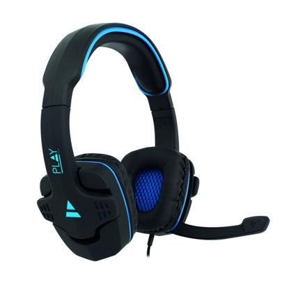Ewent PL3320 Gaming 2.0 Black/Blue, slušalke z mikrofonom