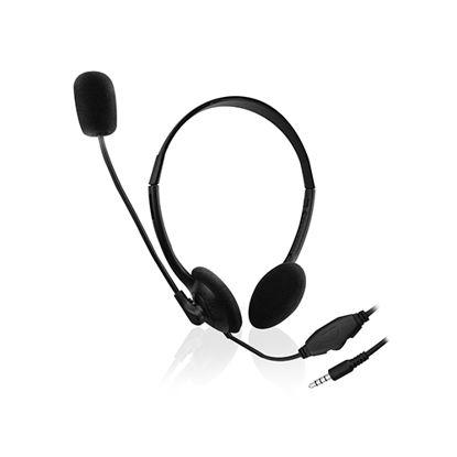 Ewent EW3567 Black 2.0 Black, slušalke z mikrofonom