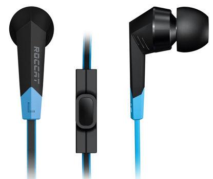 Roccat SYVA 2.0 Black/Blue, mobilne sušalke z mikrofonom