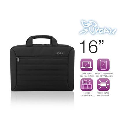 """Ewent EW2525 Urban 16"""" Black (mehak ročaj), torba za prenosnik"""