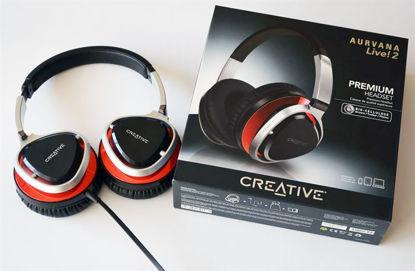 Creative Aurvana Live! 2 2.0 Silver/Red, slušalke z mikrofonom