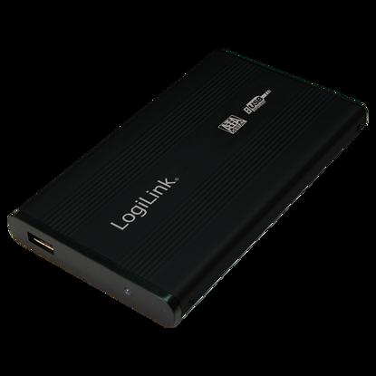 "Logilink UA0041B 2,5"" SATA USB 2.0 Aluminium Black, ohišje za disk"