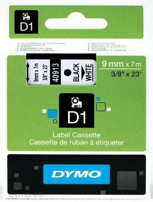Dymo 40913 (S0720680) 9mm x 7m Black – White, etikete