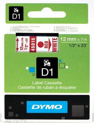 Dymo 45015 (S0720550) 12mm x 7m Red – White, etikete