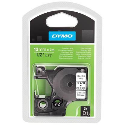 Dymo 45010 (S0720500) 12mm x 7m Black – Clear, etikete