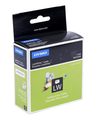 Dymo 11354 (S0722540) 57mm x 32mm x 1000 White, etikete
