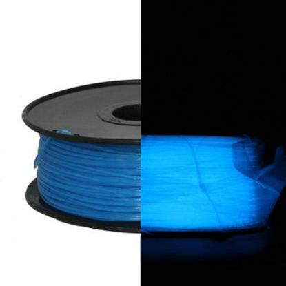 3D filament ABS 1,75 mm Glow-in-Dark 1kg Blue