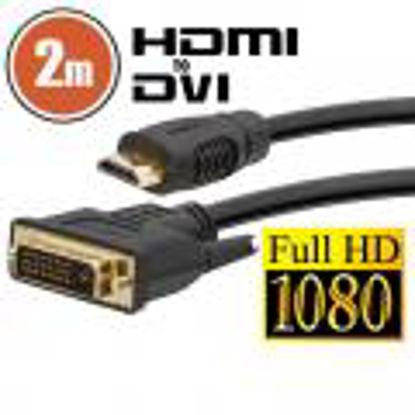 Delight DVI-D (Dual Link) (M) - HDMI (M), 2m Black, kabel