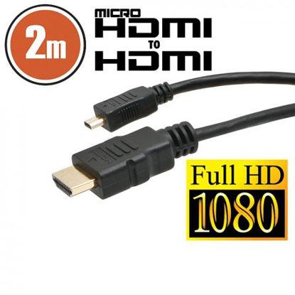 Delight HDMI (M) - micro HDMI (M), 2m, kabel