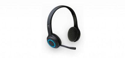 Logitech H600 Wireless 2.0 Black/Blue, brezžične slušalke z mikrofonom