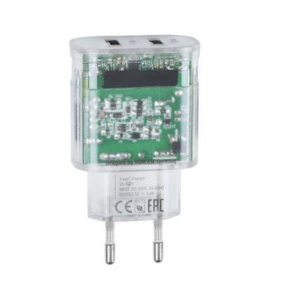 RivaCase RIVAPOWER VA4123 TD1 3,4A/ 2USB + Micro USB Transparent, hišni ponilec
