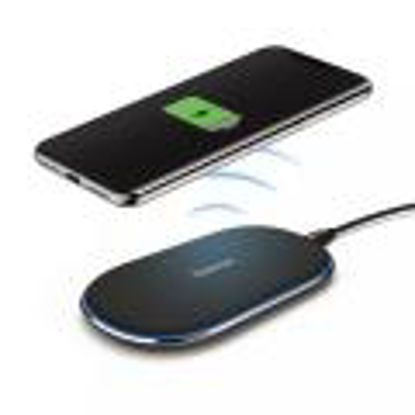 Hama 183344 QI Farbic Wireless 2A Black, brezžični polnilec
