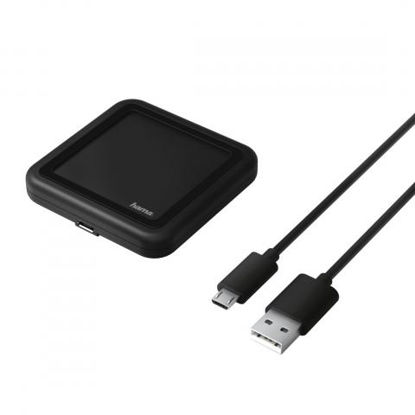 Hama 173674 QI indukcijska polnilna naprava Wireless 1A Black