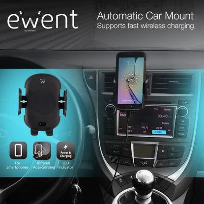 Ewent EW1191 Automatic Car Black, brezžični polnilec za avto