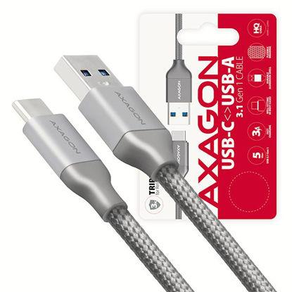 AXAGON USB-C - USB-A 3.2 Gen 1 0,5m Grey, kabel