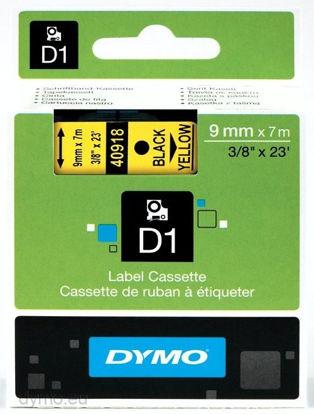Dymo 40918 (S0720730) 9mm x 7m Black / Yellow, etikete