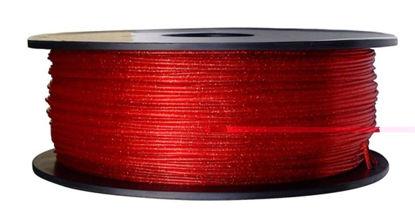 3D filament PLA 1,75 mm 1kg Glittering glossy red