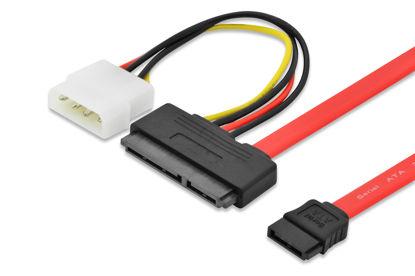 Ednetv 84142 SATA (22 pin) - SATA (7 PIN) + 4pin Power 0,5m Red, kabel