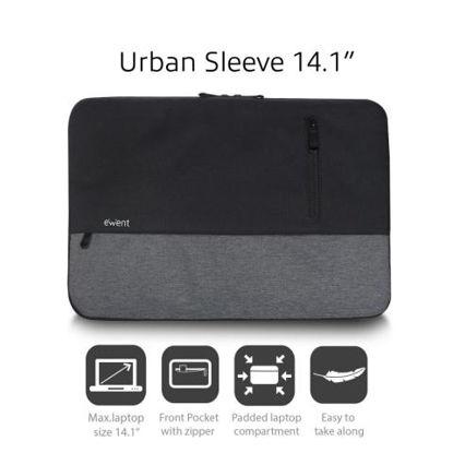 "Ewent EW2530 Urban Sleeve 14,1"" Black/Grey, torba za prenosnik"