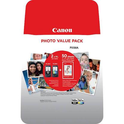 Canon PG-560XL/CL-561XL + GP-501 (foto papir) (3712C004AA), komplet originalanih kartuš