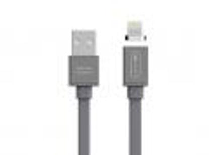 Allocacoc Flat USB A (M) - Magnet Lightning 1,5m Grey, kabel