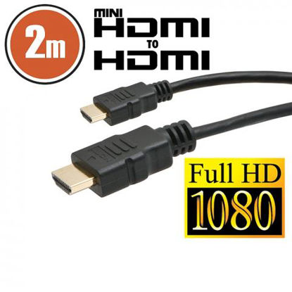 Delight HDMI A (M) - mini HDMI (M) 2m Full HD Black, kabel