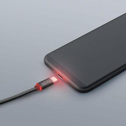 Delight iPhone Lightning Data LED Black, kabel