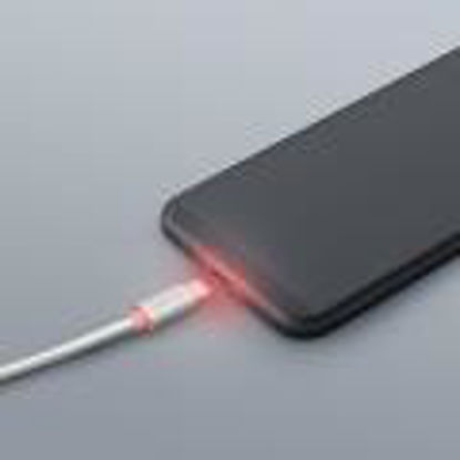 Delight iPhone Lightning Data LED White, kabel