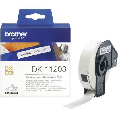 Brother DK-11203 (17mm x 87mm x 300) Black-White, etikete
