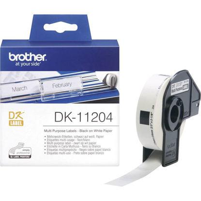 Brother DK-11204 (17mm x 54mm x 400) Black-White, etikete