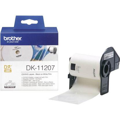 Brother DK-11207 (58mm x 58mm x 100) Black-White, nalepke za CD