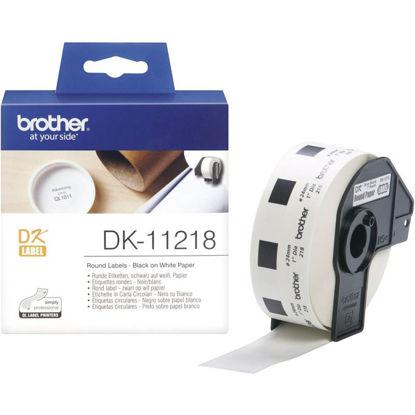 Brother DK-11218 (24mm x 90mm x 400) Black-White, etikete