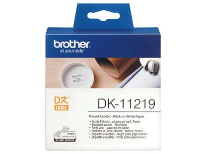 Brother DK-11219 (29mm x 90mm x 400) Black-White, etikete