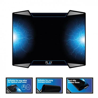 Ewent PL3340 Gaming Black/Blue, podloga za miško