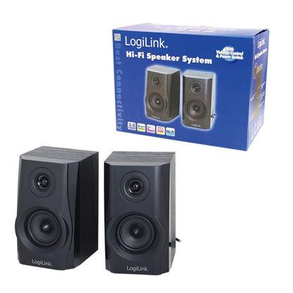 Logilink SP0028 2.0 Hi-Fi Black, zvočniki