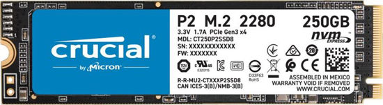 Picture of Crucial 250GB M.2 2280 NVMe P2 Series CT250P2SSD8