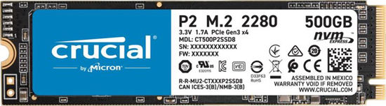 Picture of Crucial 500GB M.2 2280 NVMe P2 Series CT500P2SSD8