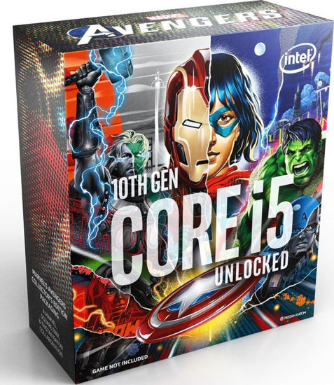 Picture of Intel Core i5-10600K 3,3GHz LGA1200 Box BX8070110600KA (Without Fan) - Marvel Avenger Edition