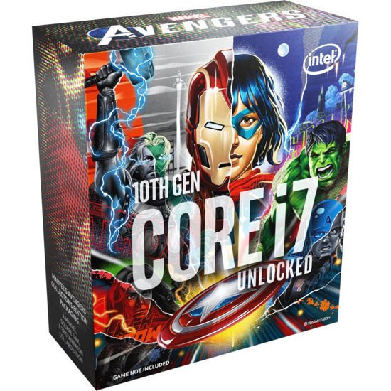 Picture of Intel Core i7-10700K 3,8GHz LGA1200 Box BX8070110700KA (Without Fan) - Marvel Avenger Edition