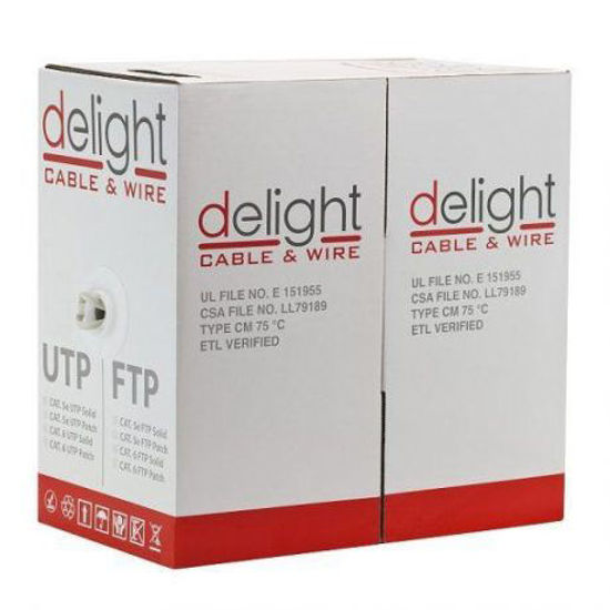 Picture of Delight 20018 UTP CAT5e PATCH ISO 305m Grey