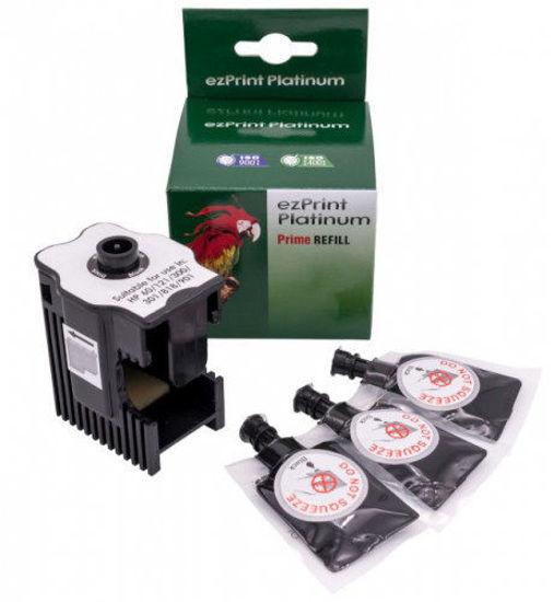 Picture of ezPrint HP nr.300/nr.301/nr.302/nr.304/nr.901 + 18ml Black, polnilni set