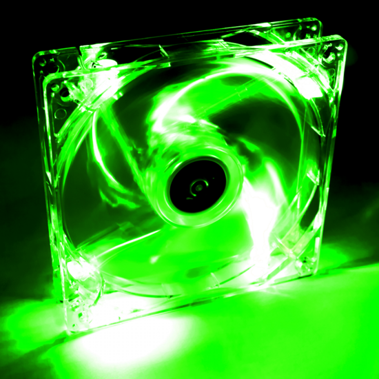 Picture of Akyga AW-12A-BG Green LED Transparent