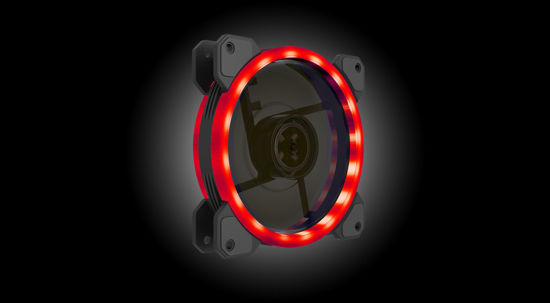 Picture of AIO 12cm GFN12SZ01R Red LED Black GAP00002R